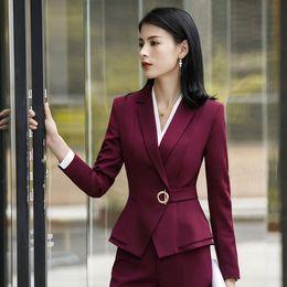 Work Suit For Women Australia - New Style Spring Fall Formal Pant Suit Office Lady Uniform Designs for Blazer Women Suits Business Suits Work Wear Black