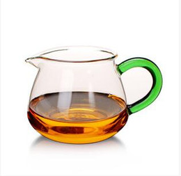 $enCountryForm.capitalKeyWord UK - hot sale Chinese heat resistant transparent glass green handle fair cup oolong or black or flower tea accessory T168