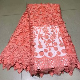 Fancy Dress Fabrics Australia - African tulle lace fabric fancy embroidered French net lace fabric with stones for party dress