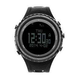 Discount sport stopwatches - SUNROAD Men Digital Smart Wristwatch with Altimeter Barometer Compass Stopwatch Pedometer Waterproof Watches