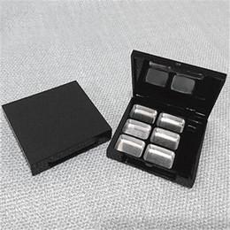 Wholesale Empty Eyeshadow Palettes Australia - Empty 6 Square Grid Eyeshadow Lipstick Powder Box Case Cosmetic Packing+6PCS Palette fast shipping 2019021001