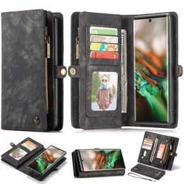 leather flip zipper case NZ - Caseme Leather 2 in1 Magnetic Zipper Flip Wallet Case For Samsung Galaxy Note 10 Plus S10E S10 S9 A80 A90 A70 A50 A30