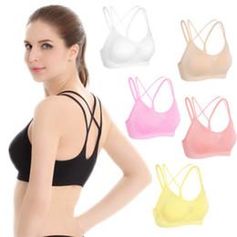 39229485f Woman Sports Bra Push Up Active Wear Tops For Women Gym Brassiere Sport Bra  Cross Crop Top Female Yoga Bra