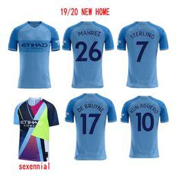Manchester Soccer Jerseys 19 20 NEUE Fußballanzüge und Jubiläumstrikots MAHREZ KUN AGUERO DE BRUYNE GJESUS im Angebot