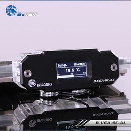 $enCountryForm.capitalKeyWord NZ - BYKSKI OLED Digital Display Water Temperature Meter use for GPU Block Adapter Add in Radiator G1 4'' Thermometer Sensor Fitting