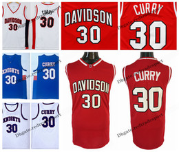 Discount curry basketball shirt Mens Stephen Curry Davidson Wildcat College Basketball Jerseys Stephen Curry Charlotte Christian Knights High School Stitched Shirts S-XXL