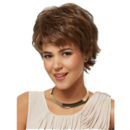 Hairstyles For Dark Hair Australia - New trend short curly wigs by 12in for fashion lady with Halle Berry's hairstyle 100% high temperature fiber synthetic hair elastic cap wig
