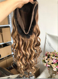highlights human hair wigs Australia - Celebrity Wigs Lace Front Wig Loose Wave 10A Omber Highlight Color Vietnamese Virgin Human Hair Full Lace Wig for Black Woman Free Shipping