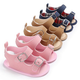 Baby Girl Summer Canvas Shoes Australia - Summer Baby Shoes Newborn Toddler Baby Girls Boys Solid Canvas Sandals Soft Sole Anti-slip Shoes Baby Boys Girls Sandals JE25#F