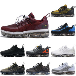 mens burgundy sneakers NZ - Crush Burgundy 2019 Run Utility Running Shoes For Men Reflective Medium Olive Black White Designer Mens Trainers Sports Sneakers Eur40-47