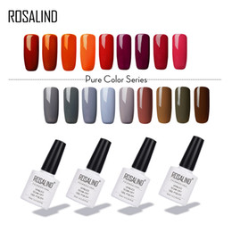 nail art series NZ - ROSALIND 10ML Pure Colors Series Nail Gel Polish New Style Gel Nail Polish Soak-Off Long Lasting UV LED Art Varnishes