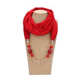 $enCountryForm.capitalKeyWord UK - 2019 Solid Jewelry chain Statement Necklace Pendant Scarf Head Scarves Women Foulard Femme Accessories Muslim Hijab Stores
