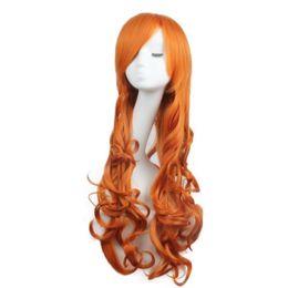 $enCountryForm.capitalKeyWord UK - Women Wigs Long Wavy Curly Cosplay Party Fashion Wig Heat Resistant Orange Color