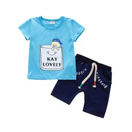 Infant Girls Tracksuits Australia - Summer Baby Cotton Clothing Sets Children Boys Girls Cartoon Bear T-shirt Short Pants 2Pcs Sets Kids Outfits Infants Tracksuits