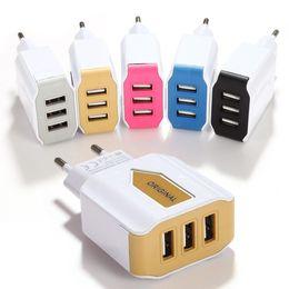 Üçlü USB Bağlantı Noktası Duvar Ev Seyahat AC Güç Şarj Adaptörü indirimde