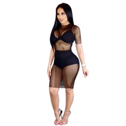 Womens long lace skirts online shopping - Womens Dress Summer New Sexy Perspective Lace Dresses Nightclub Style Sexy Tight Skirt Mesh Bottom long dress