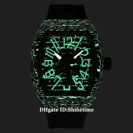 Sc fiber online shopping - Best Edition MEN S COLLECTION V SC DT NR BR ER Luminous Carbon Fiber Case Japan Miyota Automatic Mens Watch Rubber Strap Sport Watches