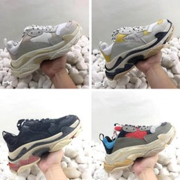 trendy shoes for men 2019 - Paris Triple S Casual Shoes womSneaker Casual Shoes Mesh Trainers for Old Dad Triple S Party Trendy Shoes Daily Lifestyl