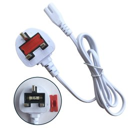 Wholesale White color AC Power cable UK plug prong cord for apple laptop adapter charger