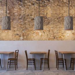 $enCountryForm.capitalKeyWord Australia - Retro Loft Nordic stump Style Cement Pendant lights modern led E27 cord pendant lamp for Restaurant living room bedroom kitchen