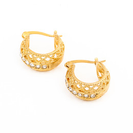 e84062cb3 Hot Selling New Jewelry Gold Color Austrian Crystal Classic Earrings For  Women Party Daily Wear Jewelry Accessories