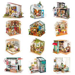 $enCountryForm.capitalKeyWord Australia - Robotime Diy Wooden Miniature Dollhouse 1:24 Handmade Doll House Model Building Kits Toys For Children Adult Drop Shipping Y19070503