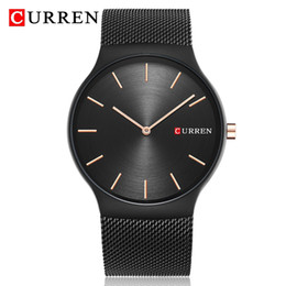 ultra thin slim watch Australia - Relogio Masculino Ultra-thin Men's Quartz Steel Mesh Slim Wrist Watch Waterproof Business Analog Display Clock