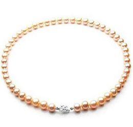 "$enCountryForm.capitalKeyWord Australia - Beautiful 9-10mm South Sea rose gold pearl necklace 18 ""Silver"""