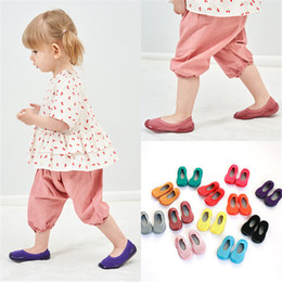 Toddler Candy NZ - Kids Girls Boys First Walkers Candy Color Cotton Baby Toddlers Anti-slip Soft Sole Baby Shoes Toddler Socks Baby Floor Shoes DHL FJ204
