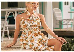 Plus Size Irregular Hem Dress NZ - Floral Print Women 2019 Spring Maxi Dress Sexy Spaghetti Strap V Neck Boho Dresses Sexy Backless Irregular Hem Plus Size Long Beach Dresses