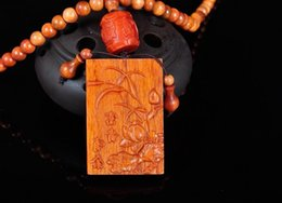 Orchid Pendant Necklace Australia - Fine Jewelry 8mm108 Indonesian Blood Dragon Wood Bead and Sculpture Orchid Pendant Necklace Free Shipping