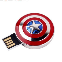 external storage flash drive NZ - Fashion hot selling metal Captain America Shield External Storage USB 2.0 4GB 8GB 16BG 32GB 64GB USB flash drive