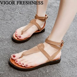 50af60856fdc VIGOR FRESHNESS Sandals Women Summer Shoes Gladiator Sandals Ladies Shoes  Women s Flat Flip Female Casual WY353