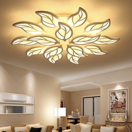 Luces de techo led modernas para el estudio del dormitorio de la decoración Accesorios de la lámpara del techo Forma de hoja AC 90-265V en venta