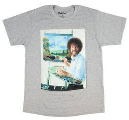 $enCountryForm.capitalKeyWord Australia - Bob Ross The Joy Of Painting Officially Licensed Portrait Men's T-Shirt (Small)