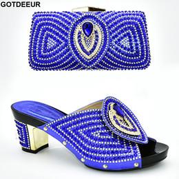 Shoe Purse Matching Australia - Italian Shoes with Matching Bags High Quality Luxury Shoe Women Designers Nigerian Women Party Pumps with Purse High Heels