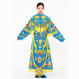Wholesale peony embroidery resale online - Hand embroidered crafts China Queen Colorful Palace Ribbons Women Phoenix Crown Shawl Embroidered Gold Peony embroidery Traditional clothing