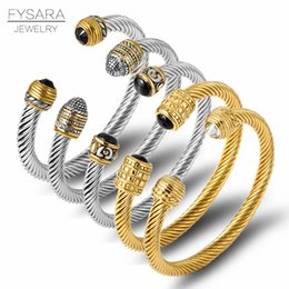 $enCountryForm.capitalKeyWord NZ - FYSARA Brand Multi Design Twisted Cable Wire Bangle Vintage Fashion Bangles Silver Cuff Bracelet Unique Designer Christmas Gift