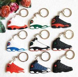 260b1709287 Mini Silicone Sneaker 13 Keychain Key Chain Shoes Car Key Holder Woman Men Bag  Charm Accessories Key Rings Pendant Gifts