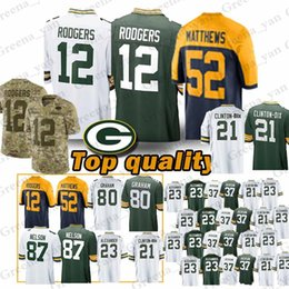 51947dec5 TOP Green Bays Packer Jerseys 12 Aaron Rodgers 23 Jaire Alexander 18  Randall Cobb 52 Clay Matthews 17 Davante Adams Jersey