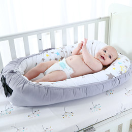 crib Canada - Portable Crib Newborns Baby Bedding Foldable Travel Bed For Infant With Bumper Bionic Cot Mattress C19041901