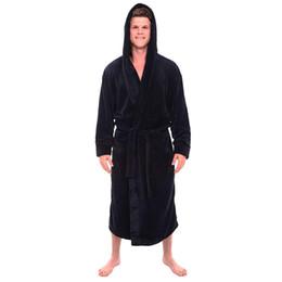 $enCountryForm.capitalKeyWord UK - Men Robe Male With Hooded Thick Dressing Gown Jedi Empire Men's Bathrobe Winter Long Robe Mens Bath Gown