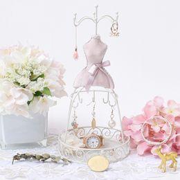 $enCountryForm.capitalKeyWord Australia - [DDisplay]Beauty Lady Jewelry Earrings Metal Jewelry Stand Retro Style Pendant Ornament Display Vintage Bracelet Velvet Jewelry Rack