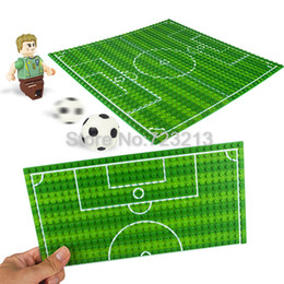 $enCountryForm.capitalKeyWord Australia - Cheap Blocks Big Size Blocks Base Plate 32*16 Dots Basketball Football Baseplate For Figure Field Court Block DIY Toys for Children