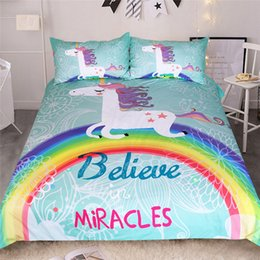Bedding Sets For Sale UK - Thumbedding Dropship Rainbow Bedding Sets Sales Unique Designed Duvet Cover Set Decorative Bedclothes For Bedroom 3PCS