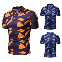 camouflage polo shirts men NZ - New Style Summer Wear Men Camouflage Printed Short Sleeve Polo Ouma T-shirt Pl51