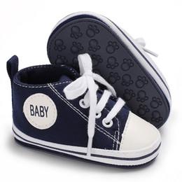 $enCountryForm.capitalKeyWord NZ - 2019 Fashion Baby Girl Boy Canvas Shoes High-top Sports Lace-up Sport Shoe Infant Toddler Soft Rubber Anti-slip Prewalker Shoes