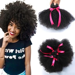 Afro kinky humAn hAir extensions online shopping - 8A Mink Peruvian Afro Kinky Curly Hair Wave Bundles Peruvian virgin Afro Kinky Curly Human Hair Extensions peruvian Afro Kinky Virgin Hair