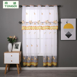 $enCountryForm.capitalKeyWord Australia - Kitchen Curtain Sheer Panels Valance And Tiers With Rural Style Fruit cafe Embroidery For Window Of Kitchen Dining Room