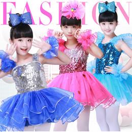 c0bd9005 Cheerleading Costumes Australia - Girls Latin dance dance costume  children's chorus costumes sequins cheerleading costumes children
